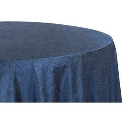 "120"" Navy Blue Crushed Taffeta"