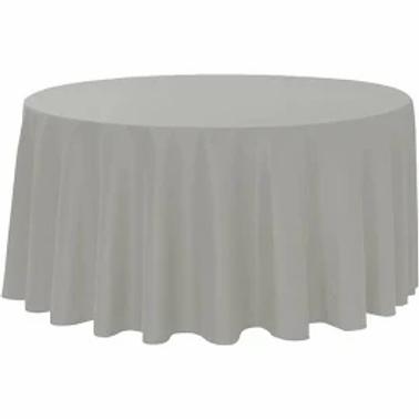 "120"" Light Grey Polyester Linen"