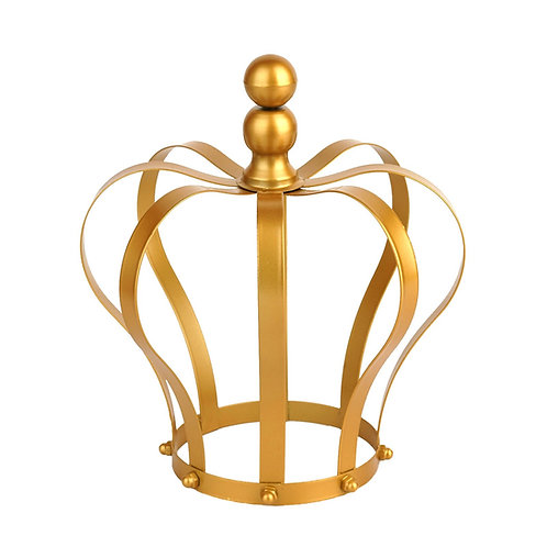 "9"" Gold Metal Royal Crown"
