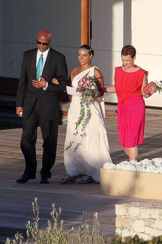 Alicia Keys Wedding | Celebrities Wedding Shoes | So Into You Shoes