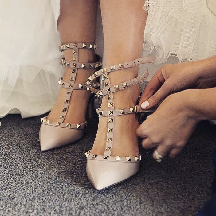 Valentino Rockstud Shoes | Best Selling Wedding Shoes for Brides |So Into You Shoes