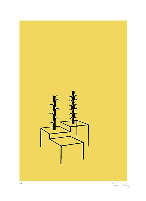 Pere Moles - Abstract Yellow #1 - 2018