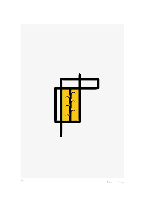 Pere Moles - Geometric yellow #1 - 2018