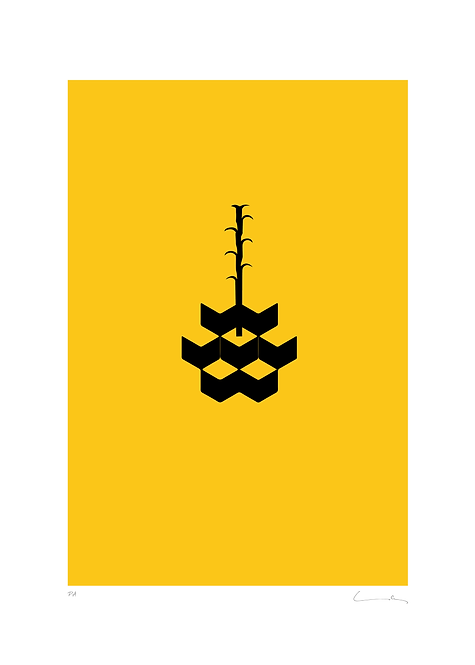 Pere Moles - Geometric yellow #2 - 2018