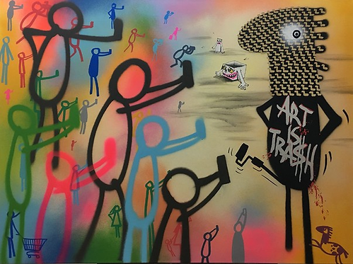 Art is Trash - Silver - 2017