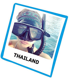 Charlotte travelling Thailand before Lymphoma diagnosis