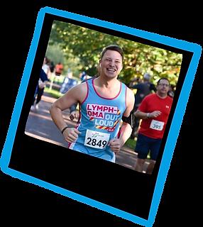 Team Lymphoma taking on the Greenwich 10k running challenge