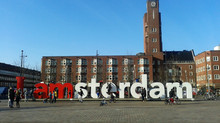I AMsterdam in a sunny Mercatoplein!