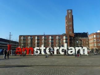 I AMsterdam in a sunny Mercatoplein!