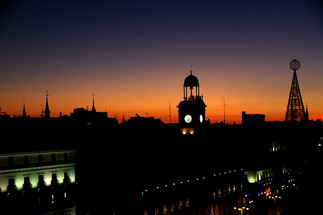 Sunset on the roofs of Madrid