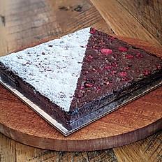 Whole Vegan Brownie with Raspberry (8 inch)