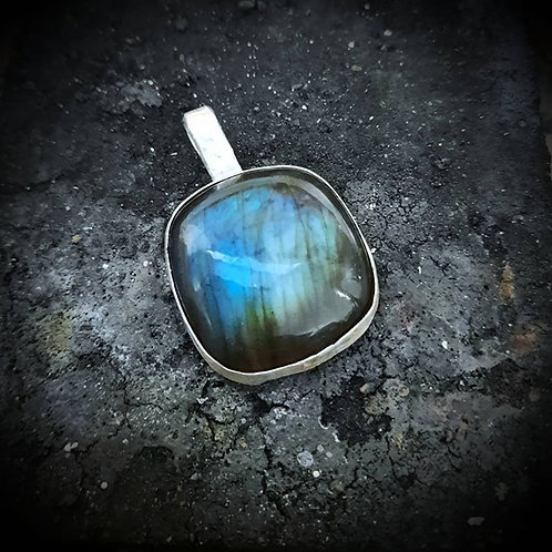 Double Sided Sterling Silver Labradorite Pendant