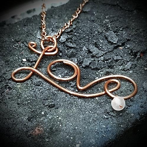 Copper 'Love' Necklace