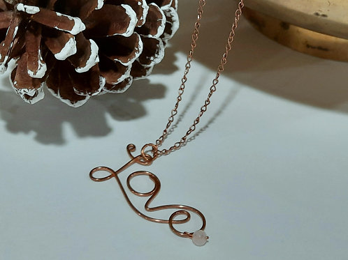 Copper 'Love' Necklace
