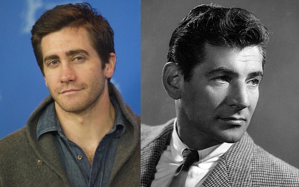 Foto: à esquerda o ator Jake Gyllenhall à direita o compositor Leonard Bernstein