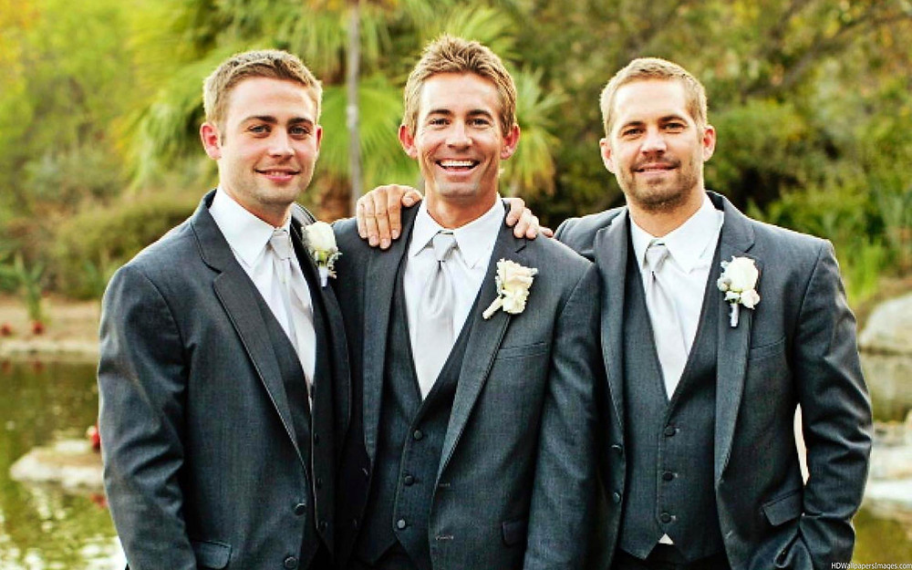 Cody, Caleb e Paul Walker (da esquerda para direita)