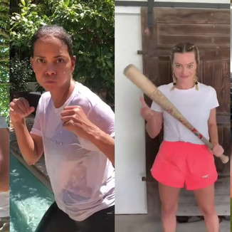 Arlequina vs Viuva Negra vs Gamora vs Xana; atrizes lutam em desafio nas rede sociais