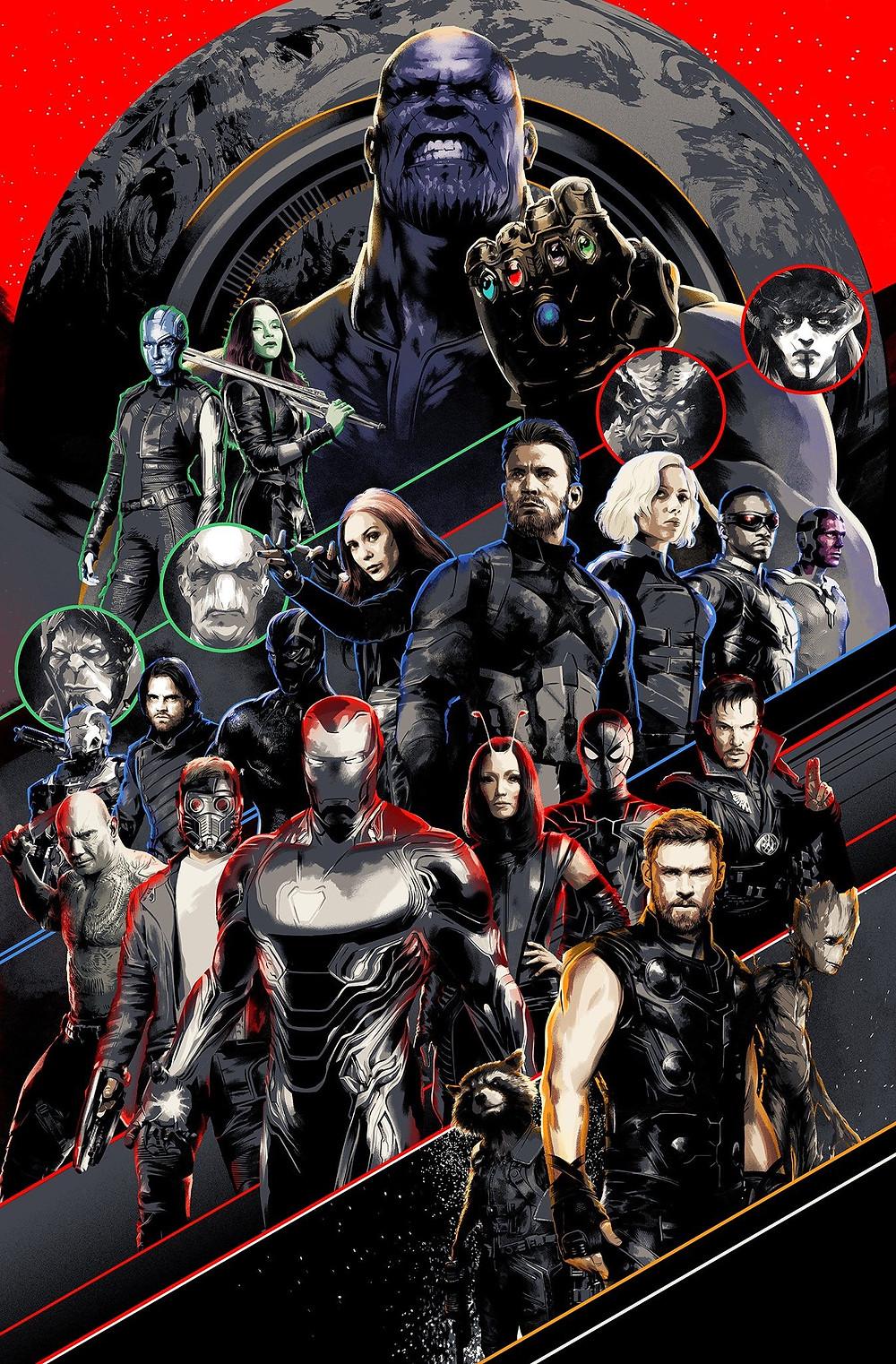 Novo poster de Vingadores: Guerra Infinita mostra heróis e vilões juntos - (Imagem: Marvel/Marketing/Divulgação)