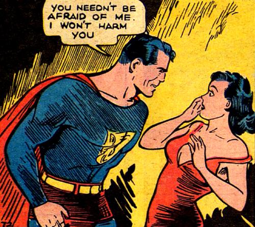 Superman e Lois se conhecem pela primeira vez na Action Comics nº 1, por Jerry Siegel e Joe Schuster