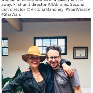 Lucasfilm contrata Victoria Mahoney primeira diretora feminina de segunda unidade para Star Wars IX