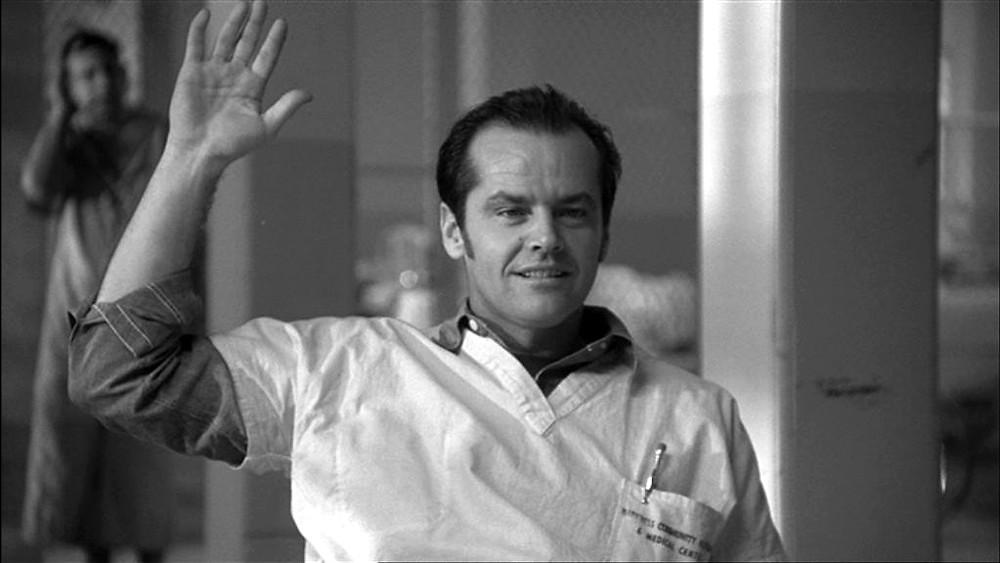 """Jack Nicholson no filme """"Um estranho no ninho"""""""