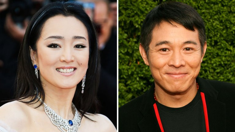 Gong Li e Jet Li (Créditos: Laurent Viteur e Jesse Grant/Getty Images)