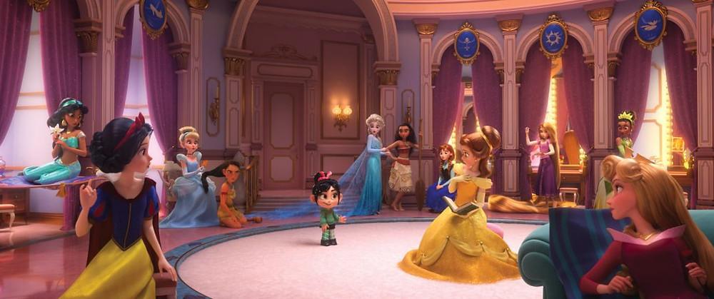 Vanellope se encontra com as princesas da Disney