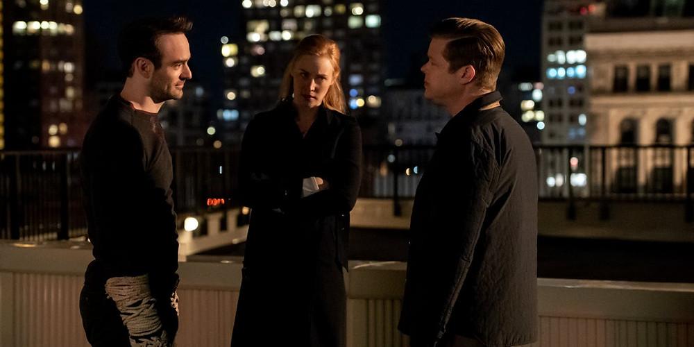 Murdock, Page e Nelson finalmente voltaram a trabalhar juntos e em harmonia, mesmo após muito sofrimento. (Imagem: Marvel / Netflix)