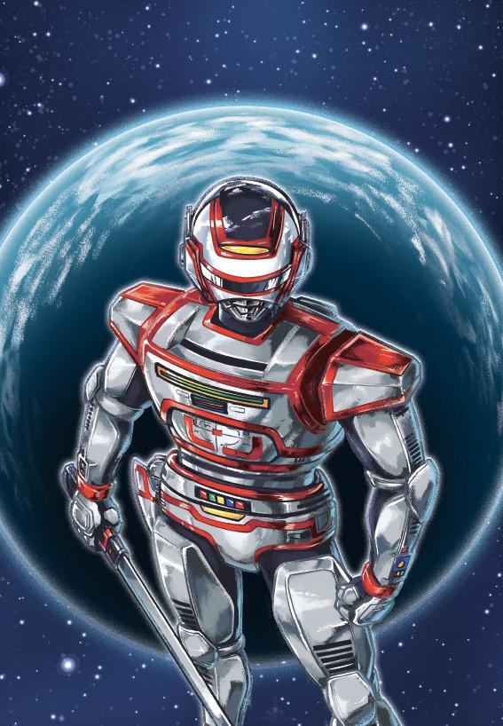 Jaspion, o defensor da Terra (Ilustração: Michel Borges / site oficial)