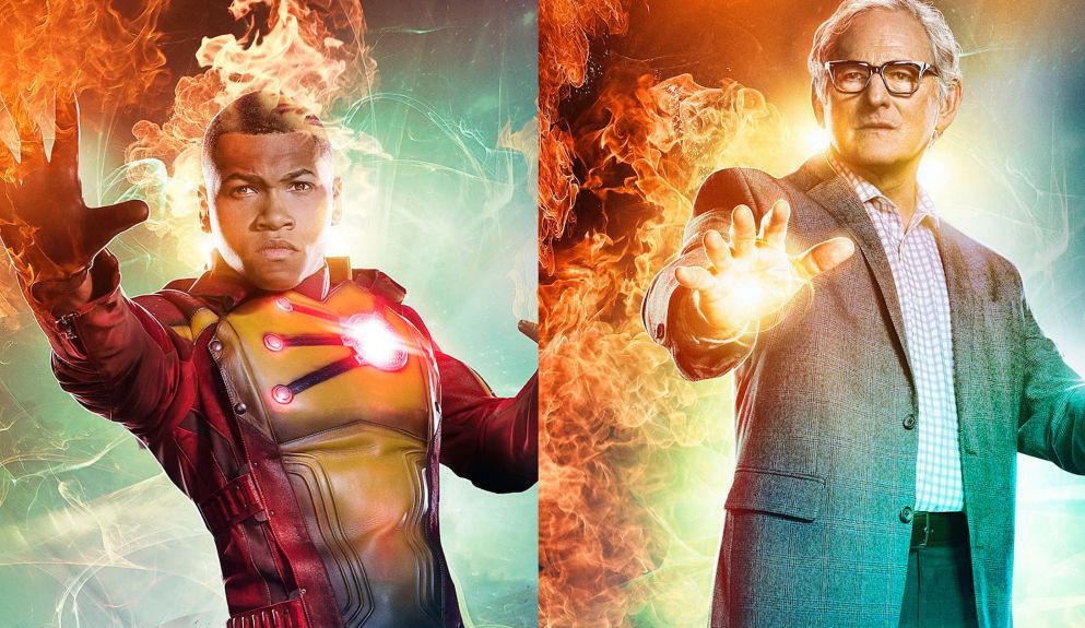 Jax (Franz Drameh) e Dr. Martin Stein (Victor Garber) deram adeus a Legends of Tomorrow após integrarem o elenco do seriado desde o seu início. (Imagem: CW / Divulgação)