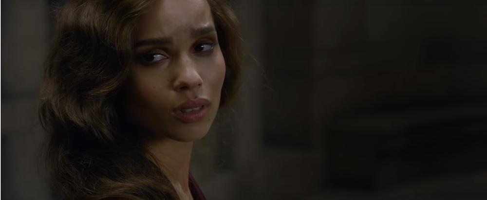 Zoë Kravitz interpreta a atormentada Leta Lestrange.