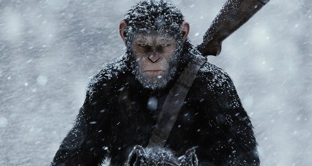 Andy Serkis em um de seus trabalhos, como Caesar em Planeta dos Macacos: A Guerra (2017)