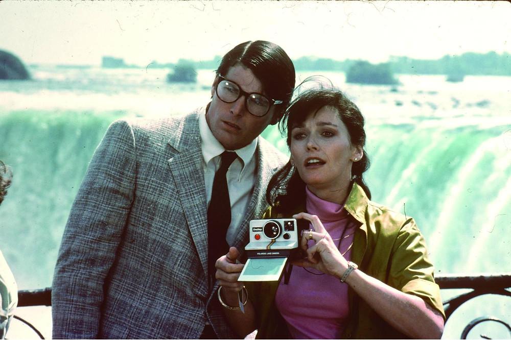 Christopher Reeve e Margot Kidder no filme Superman 2