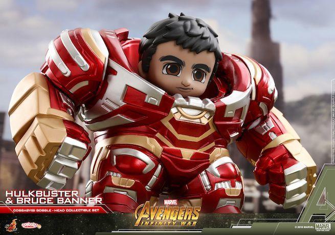 Boneco da linha Avengers: Infinity War Cosbaby revela Bruce Banner como controlador da armadura Hulkbuster - (Imagem: Hot Toys/Divulgação)
