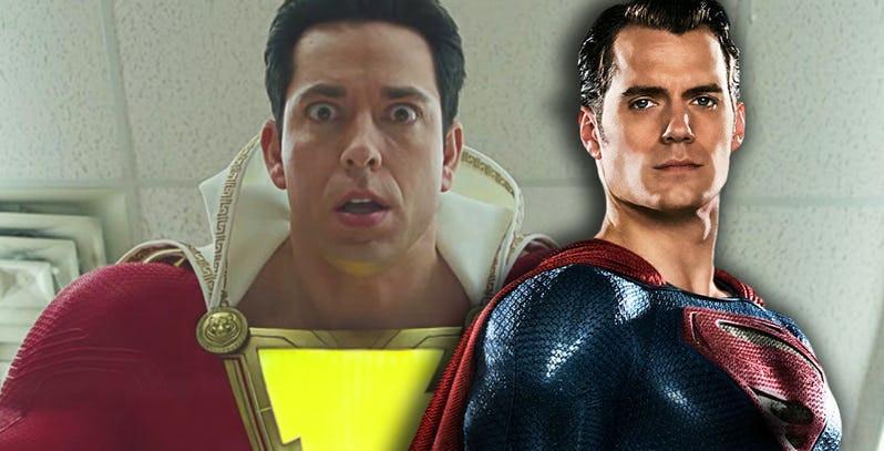 A princípio, Shazam! e Superman não terão muitas conexões durante o longa (Imagem: Warner Bros. / Divulgação / Comic Book)