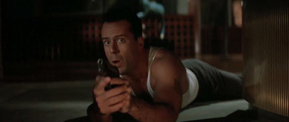 John McClane em Duro de Matar, imagem ilustrativa apenas