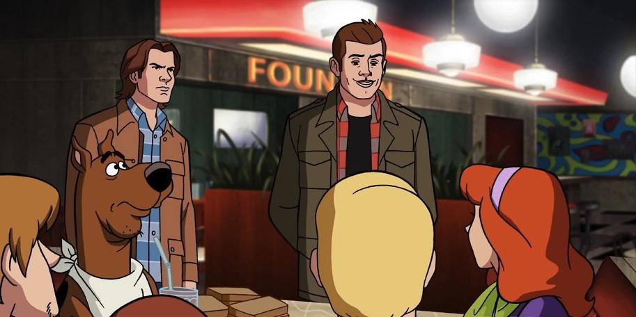 """Os irmãos Winchester como desenhos no episódio """"ScoobyNatural"""" - (Imagem: Warner/Divulgação)"""