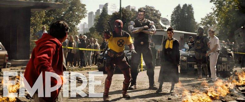 Será que Wade Wilson finalmente cedeu ao convite para se tornar um X-Men? (Imagem: Empire/Fox/Divulgação)