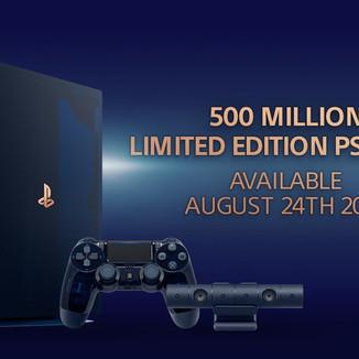 Sony comemora a marca de 500 milhões de Playstation 4 vendidos, com uma edição comemorativa do conso