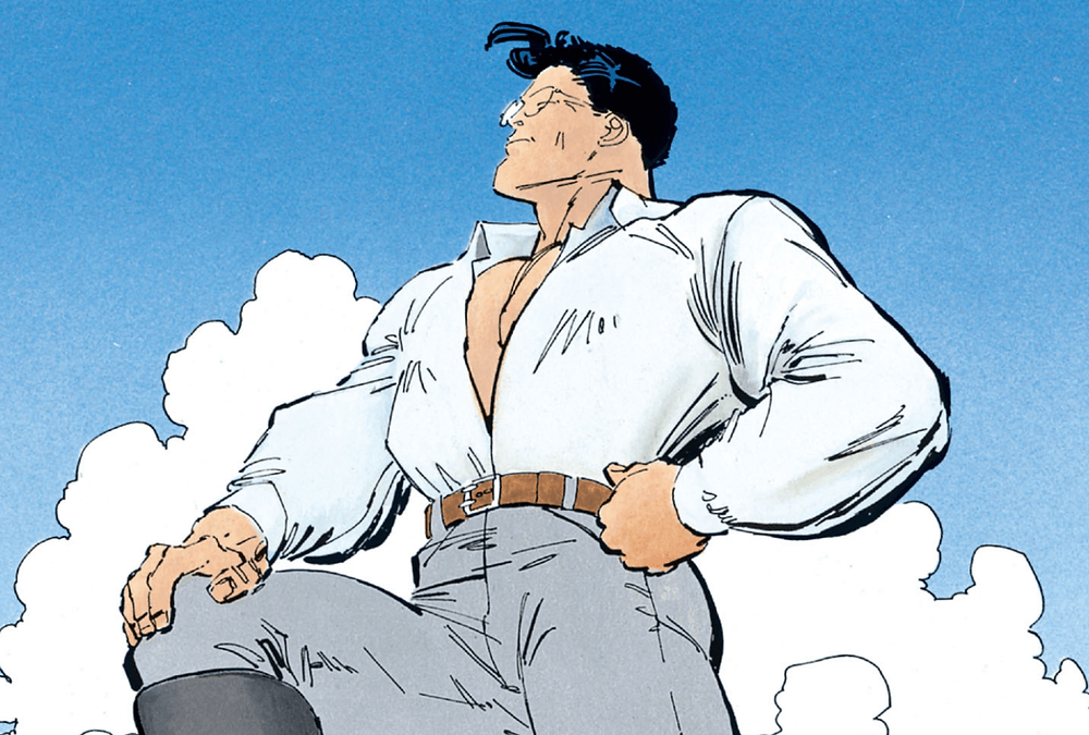 Superman em Batman: O Cavaleiro das Trevas, de Frank Miller