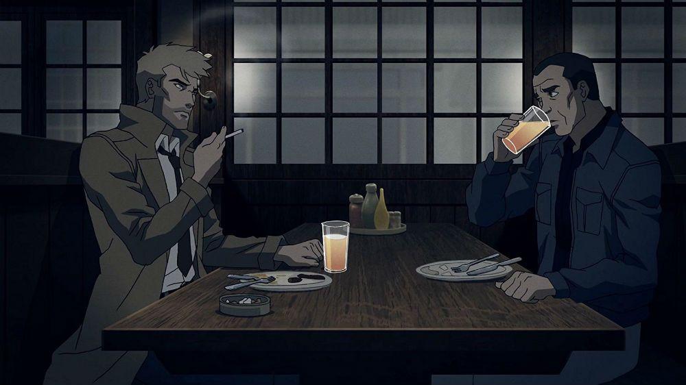 A amizade entre Constantine e Chas acaba sendo o principal elo emocional do filme. (Imagem: DC/Warner/Reprodução)