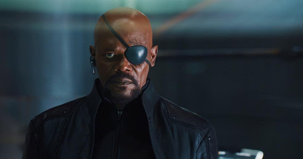 Nick Fury terá versão mais jovem no filme da Capitã Marvel. (Imagem: Marvel/Divulgação)