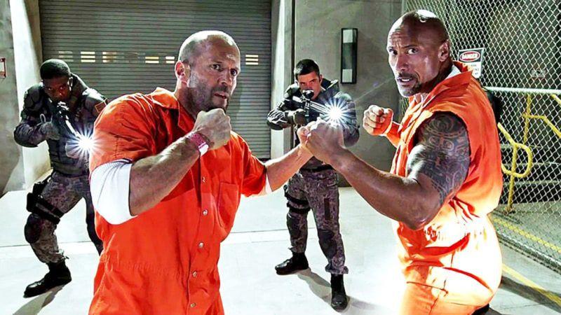 Jason Statham e Dwayne Johnson vão estrelar filme derivado de Velozes e Furiosos. (Imagem: Universal/Divulgação)