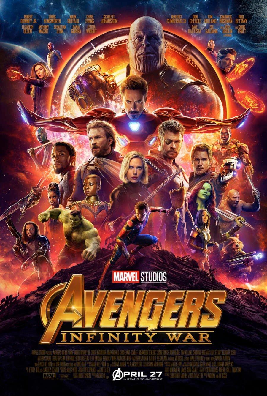 Fãs vão ter a chance de acompanhar Vingadores: Guerra Infinita com 18 dias de antecedência em relação a estreia no Brasil (Imagem: Marvel Studios/Divulgação)