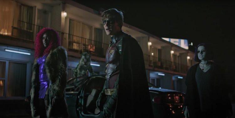 Pouco a pouco vemos Dick Grayson/Robin tornando-se o líder dos Titãs (Imagem: DC Universe/Divulgação)
