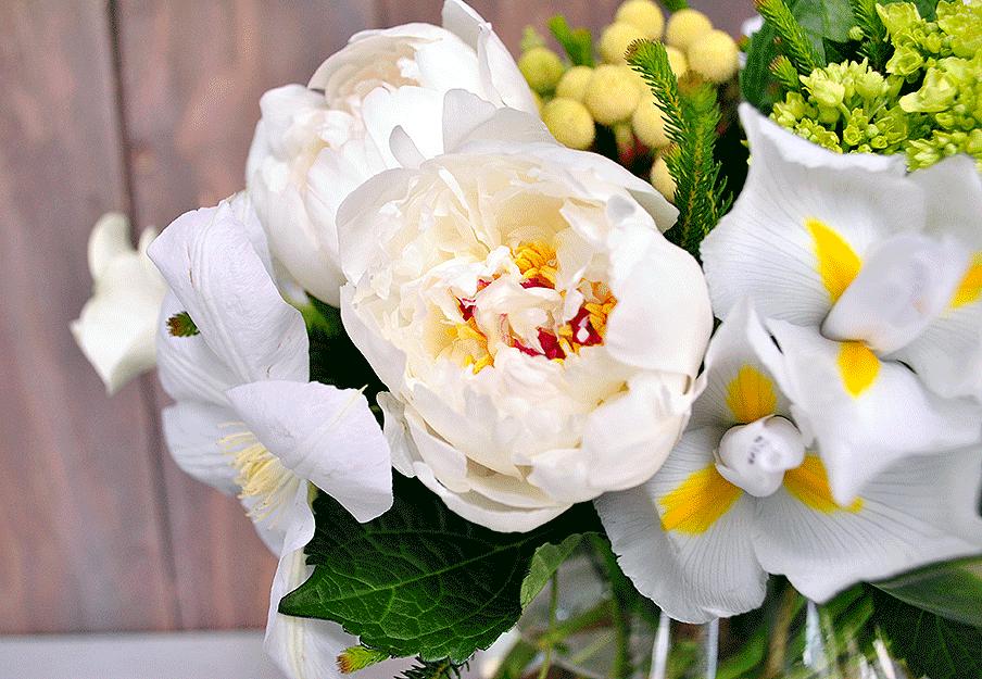 Spring Peonies and Iris