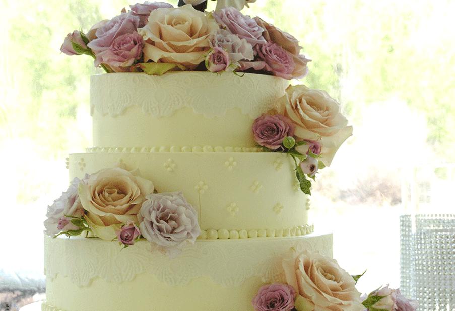 Vintage Purple Cake Flowers