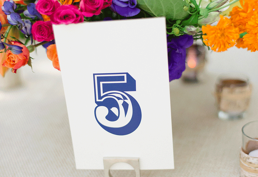 Graphic Print Table Number