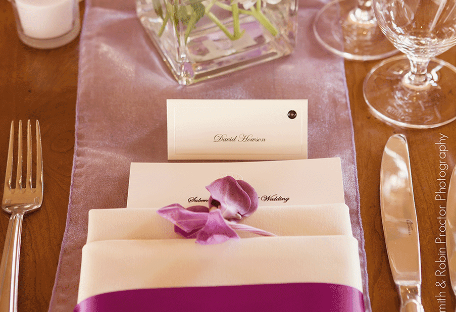 Orchid Napkin Detail