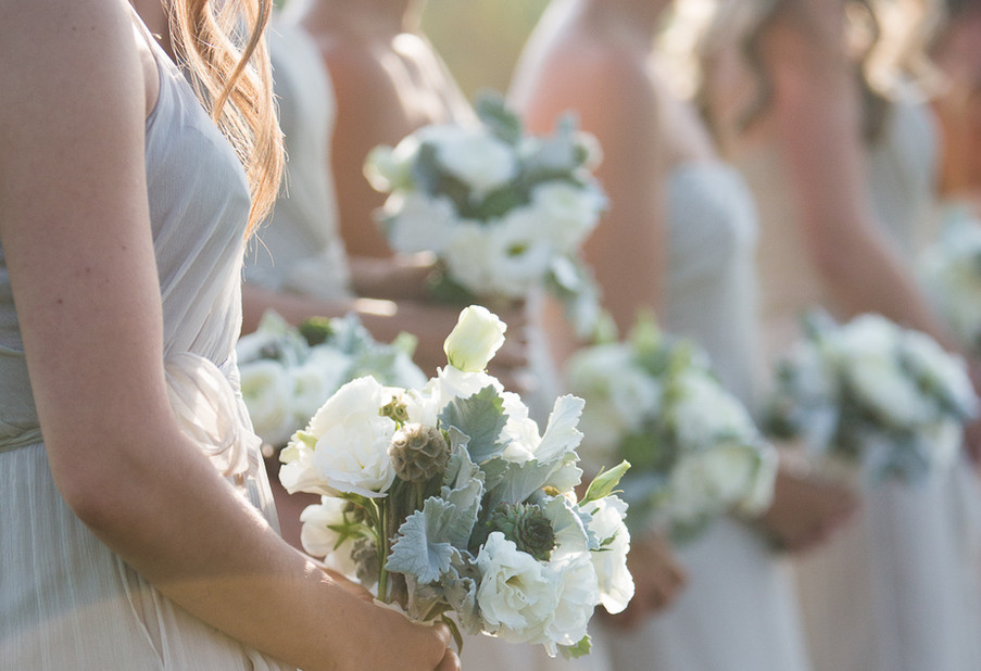 Lisianthus and Dusty Miller